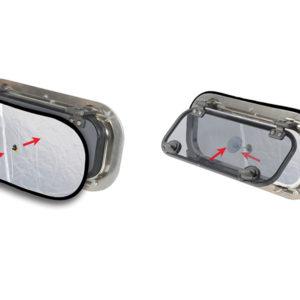 Mørkleggende myggnett til portlight-vindu - 2pk