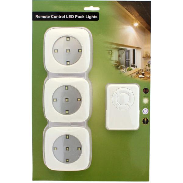 , LED lys m/fjernkontroll – 3 lamper 5 LED, Naumar seil- og båtutstyr