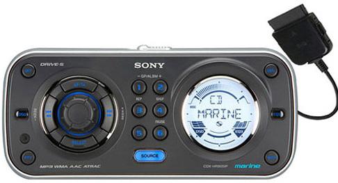 , Ekstrempris: Sony Marine stereo CDX-HR910UI for iPod/USB, Naumar seil- og båtutstyr